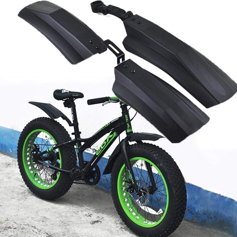 SPLLEADER Nieve Bicicleta de los Guardabarros Bicicleta de Grasa Guardabarros Delantero Trasero Barro Guard for Bicicletas de 26 Pulgadas MTB 20 Pulgadas Ciclo de la Bicicleta Defensas: Amazon.es: Deportes y aire libre