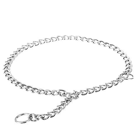 POPETPOP Collar de Cadena para Perro de Acero Inoxidable Collar para Mascota para Estrangular 2.5mmx50cm