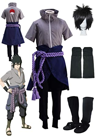 Amazon Com Yu Zhi Bo Sasuke Cosplay Clothes Naruto Ninja Army Men S