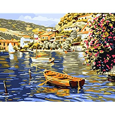 Greek Art Paintworks Paint Color By Number Kit,Venice Town styleB,16-Inch by 20-Inch: Toys & Games