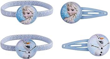 SIX Kids Disney Frozen Haarschmuck Set - Anna und Olaf Haargummis und Haarspangen (304-465)