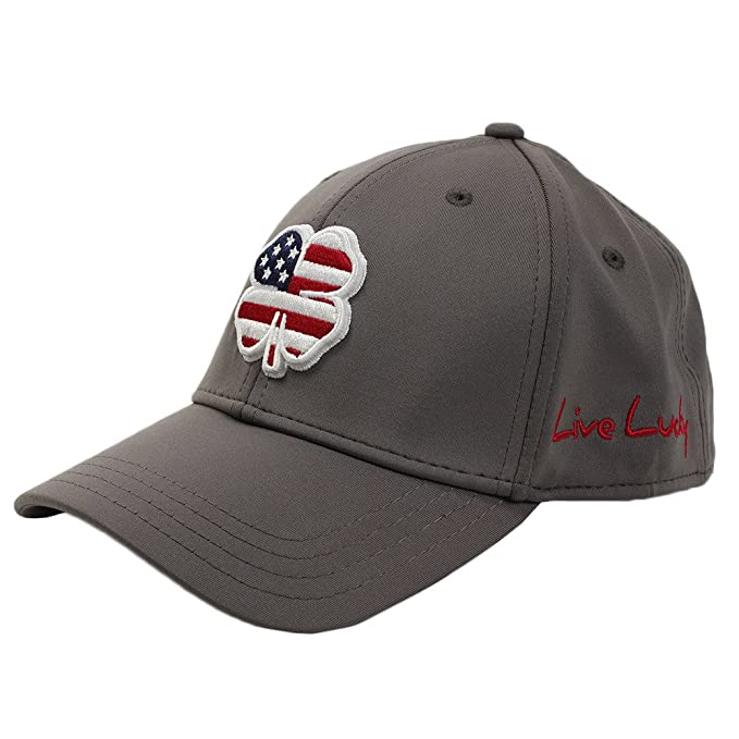 d6bc9a8e8d1eb Image Unavailable. Image not available for. Color  Black Clover Brand  Premium Clover USA Luck  4 Grey L XL Flexfit Hat