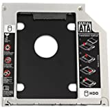 """LZIONEW 2.5"""" 9.5mm SATA 2nd Hard Drive Caddy Tray for Unibody 9.5mm Laptop CD/DVD-ROM Drive Slot (Replacement Only for SSD and HDD)"""