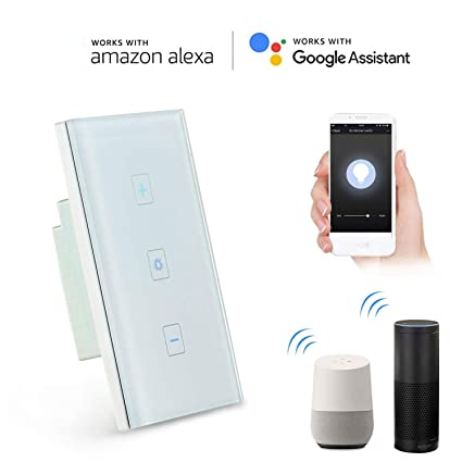 09a1dc7ab182 Smart Light Switch, Leegoal Latest In-Wall Wifi Dimmer Wireless Switch  Compatible with Alexa