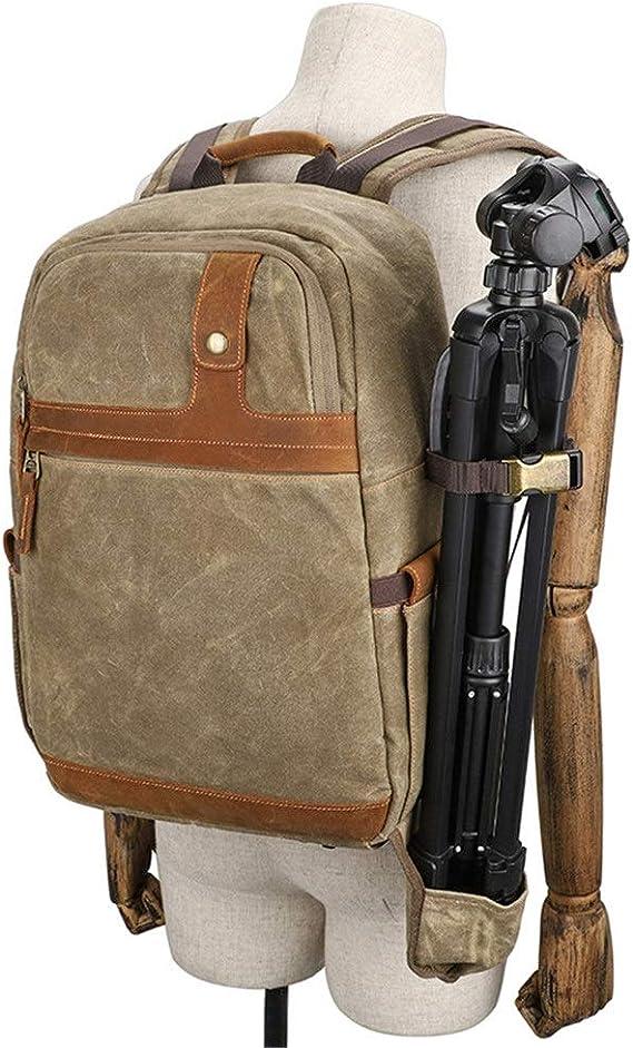 Color : Brown, Size : 30x16x47CM Camera Backpack Digital Waterproof Mens and Womens Multi-Function SLR Camera Bag Micro Single Portable Backpack Travel Hiking Camera Bag