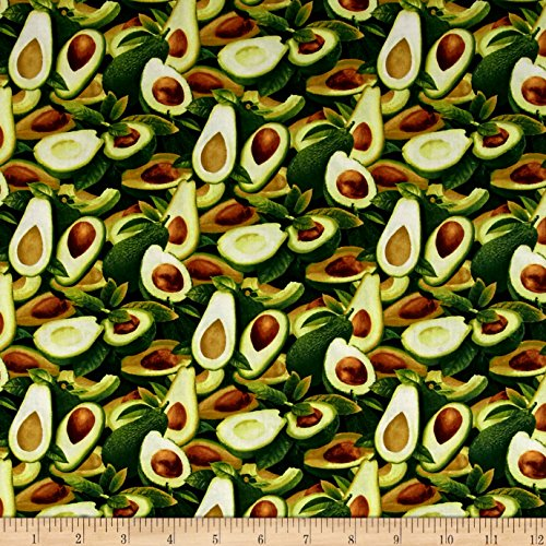 Fabri-Quilt Market Medley Sliced Avocados Multi Fabric by The Yard