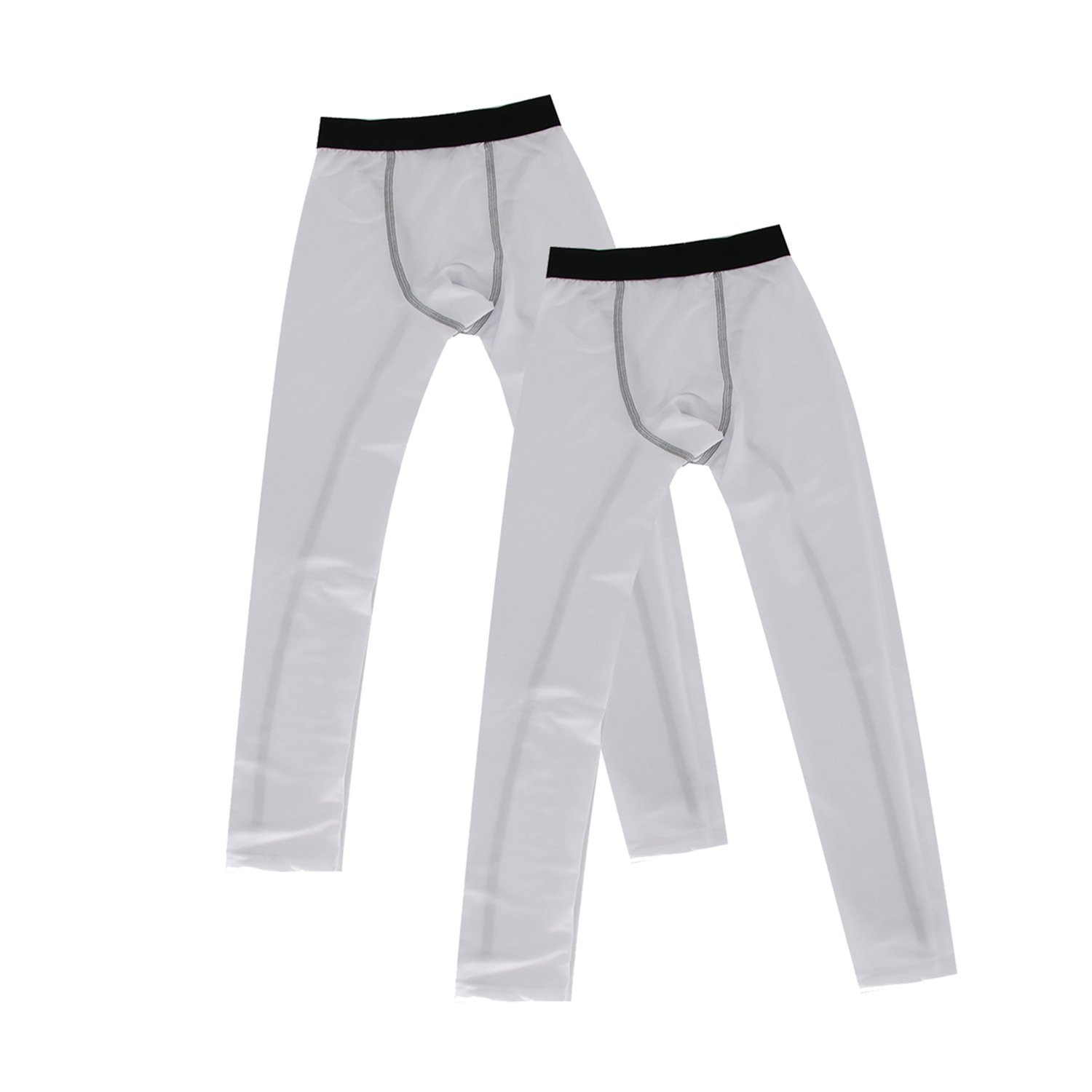 Minghe Boys 2 Pack Thermal Underwear Bottoms Base Layer Tights Mositure Wicking