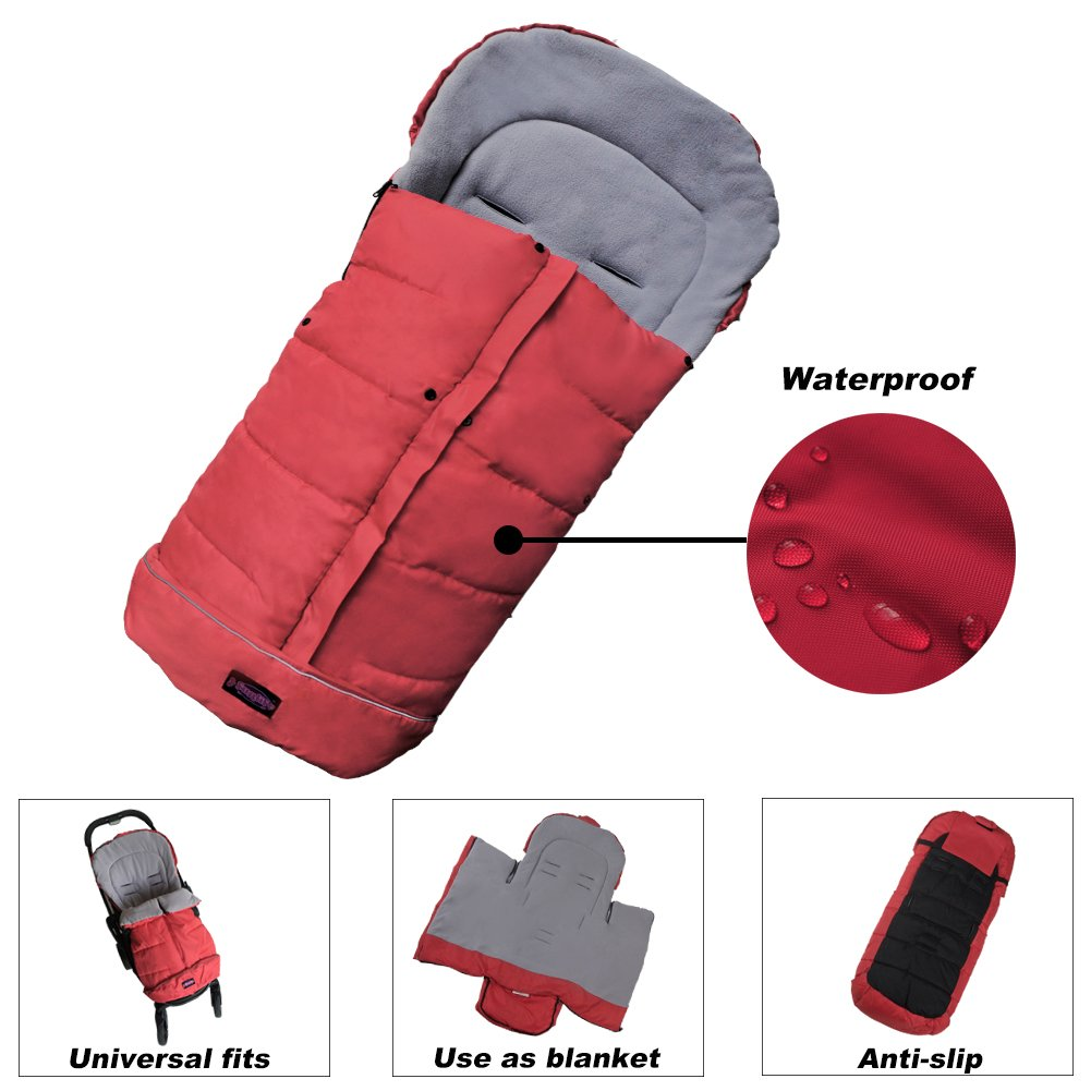 Warm Cuddly Weather Resistant Baby Footmuff Adaptable for Universal Strollers 100% Safe Toddler Footmuff Sunday