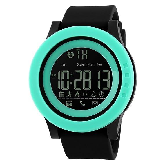 Smartwatches,Reloj deportivo Relojes digitales Impermeable Calorías Contador de pasos Bluetooth Recordatorios sociales Cámara remota Multifunción Hombre ...