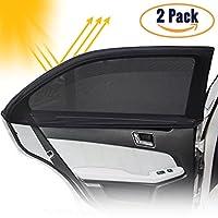 DB ZONE Pare-soleil Fenêtre de Voiture pour Vitres Latérales-Protection Contre Rayon de Soleil et UV pour Bébé, Enfant, Animaux-(2 pièces)- Couvre 100% la vitre-S'adapte pour Tous type de Voiture-Anti chaleur-Anti éblouissement-