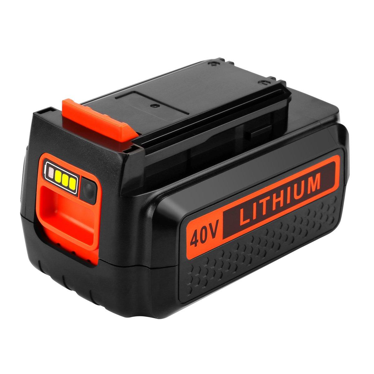 Energup Upgraded Replacement 2500mAh 40 Volt MAX Battery for Black and Decker 40V Battery LBX2040 LBXR36 LBXR2036 LST540 LCS1240 LBX1540 LST136W Black+Decker 40-Volt Lithium Battery