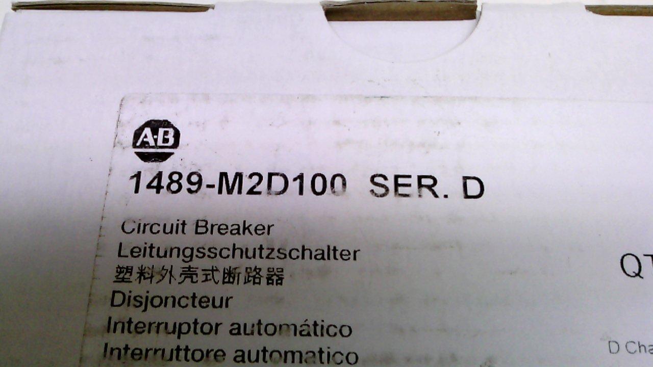 Allen Bradley 1489 M2d100 Series D Circuit Breaker 10a 2pole Corporation Br120af Single Pole Arc Fault 20amp Industrial Scientific