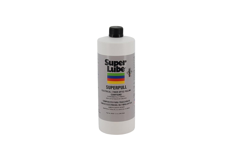 Super Lube 80320 Super Pull Electrical/Fiber Optic Pulling Compound, 1 quart Bottle, Translucent Orange
