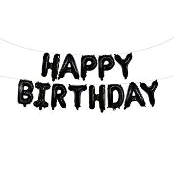 Happy Birthday Balloons Banner 16 Inches Alphabet Letters Aluminum Film Balloon For Christmas Party Decoration