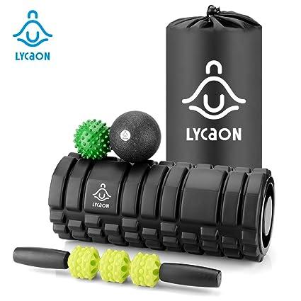 LYCAON Rodillo de Espuma 5Pcs para la recuperación Muscular ...