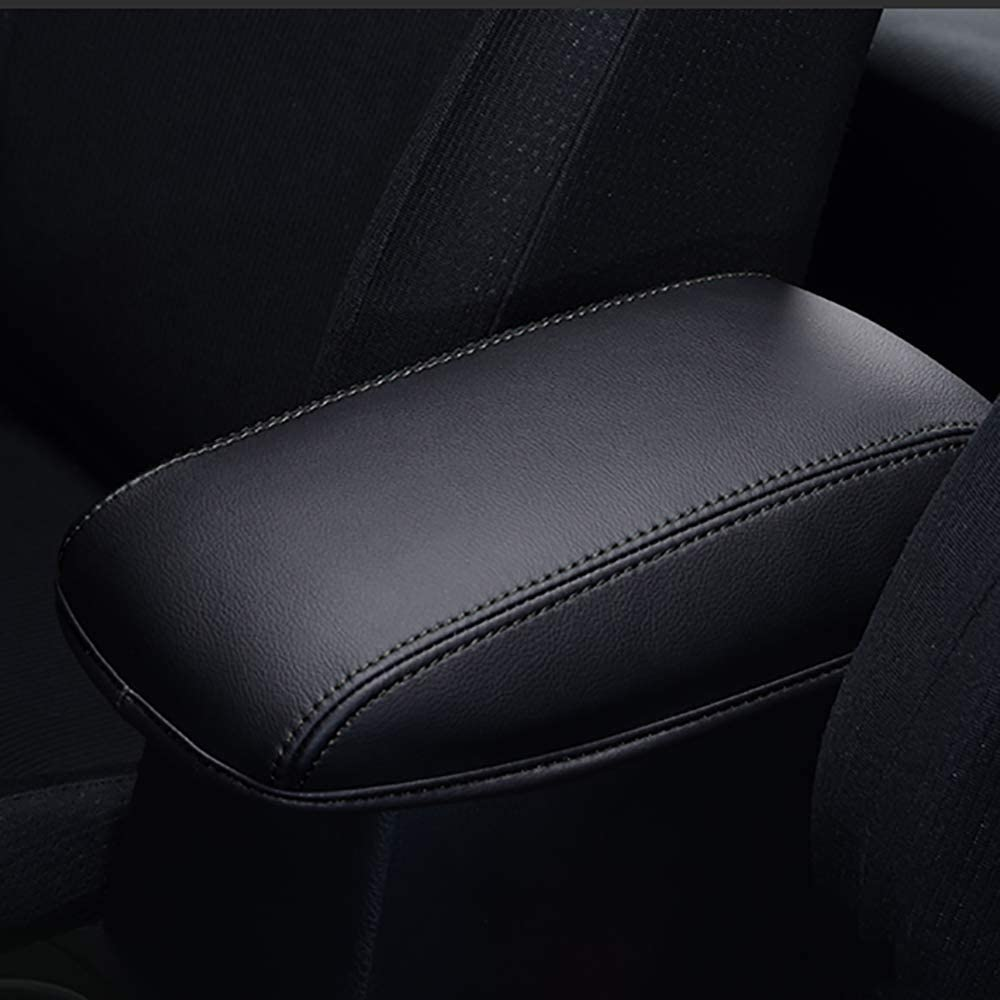 1 Pc Center Console Armrests Cover Microfiber Leather For Toyota Camry 2018