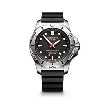 1e2b461e9f7 Amazon.com  Victorinox Swiss Army Men s I.N.O.X. Stainless Steel Swiss-Quartz  Diving Watch with Rubber Strap