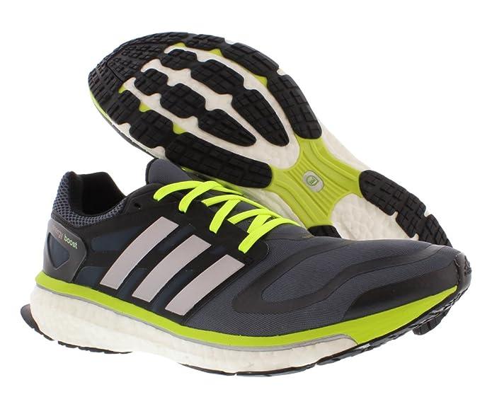 Adidas Energy Boost Mens Running Shoes OnyxYellowWhite 14