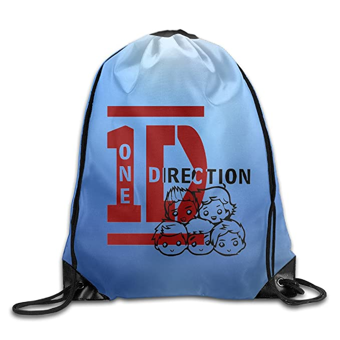 db335d6101f8 Image Unavailable. Image not available for. Colour  One Direction Band Logo  Drawstring Backpack Bag White
