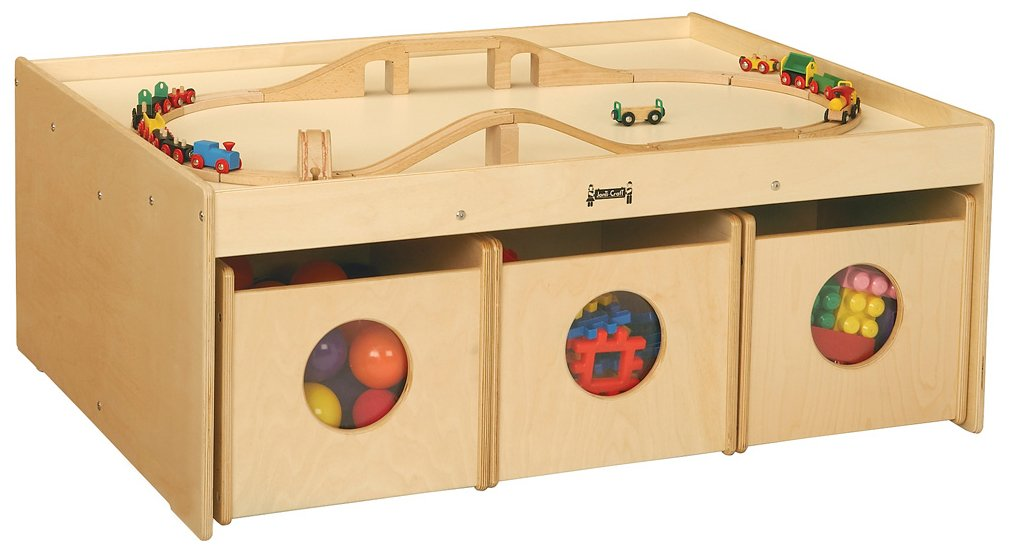 Amazon.com: Jonti-Craft 5752JC Activity Table with 6 Bins ...