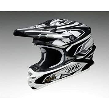 Casco Mx Shoei 2015 Vfx-W Blockpass Tc5 Plata-Negro-Blanco (Xs