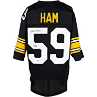 $119 » Jack Ham Signed Black Custom Pro Style Football Jersey HOF 88 BAS ITP