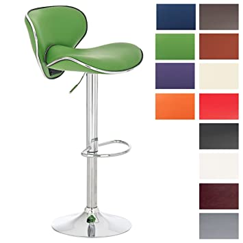 CLP Bar Stool LAS VEGAS swivel metal frame in chrome look height adjustable