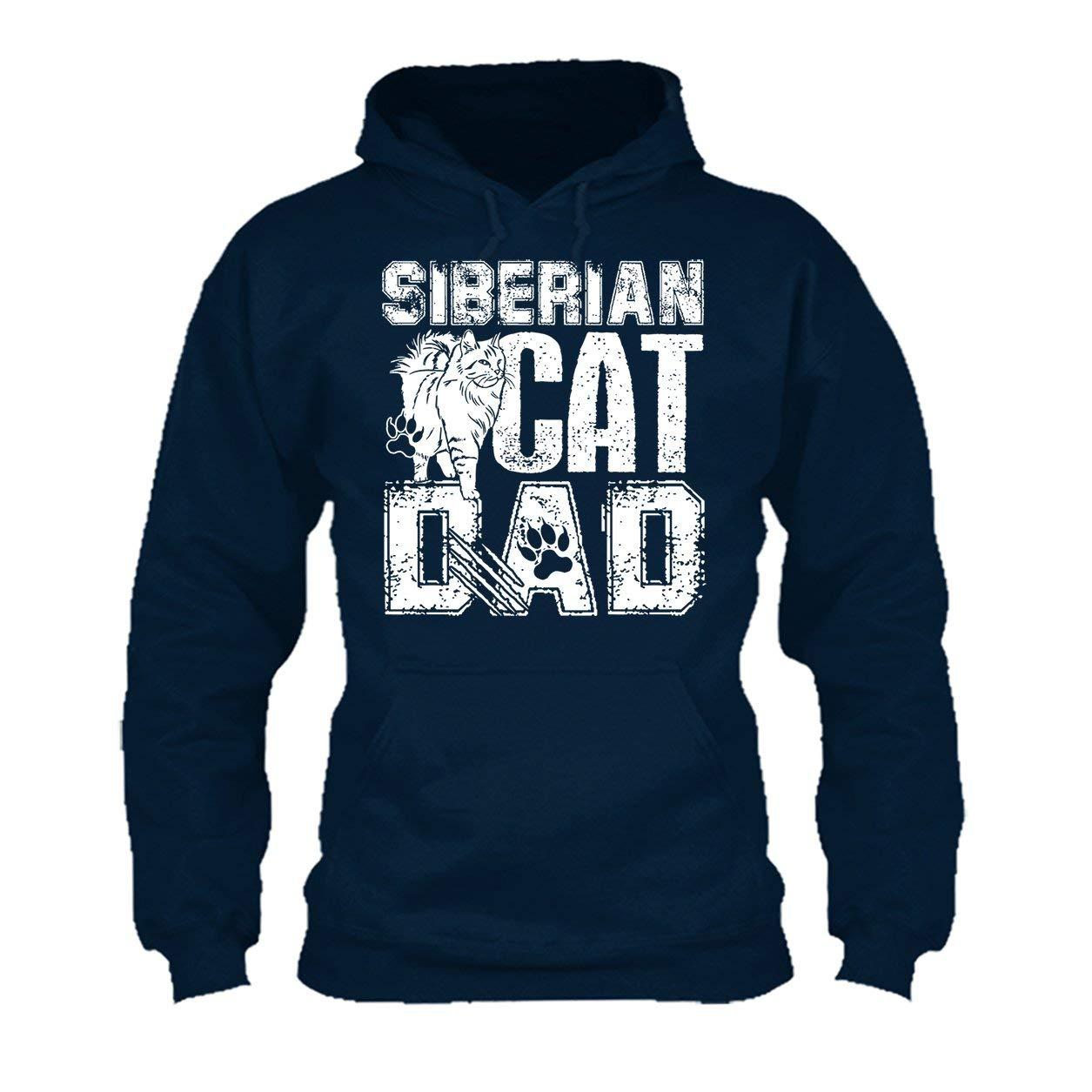 Long Sleeve Shirt Siberian Cat Dad Tee Shirt