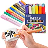 STA Paint Pens Fine for Rocks,Acrylic Paint Markers 24 for Wood,Medium Point Art Permanent Paint Pens,Paint Markers for Stones,Fabric,Glass,Metal,Ceramics,DIY Art Projects By