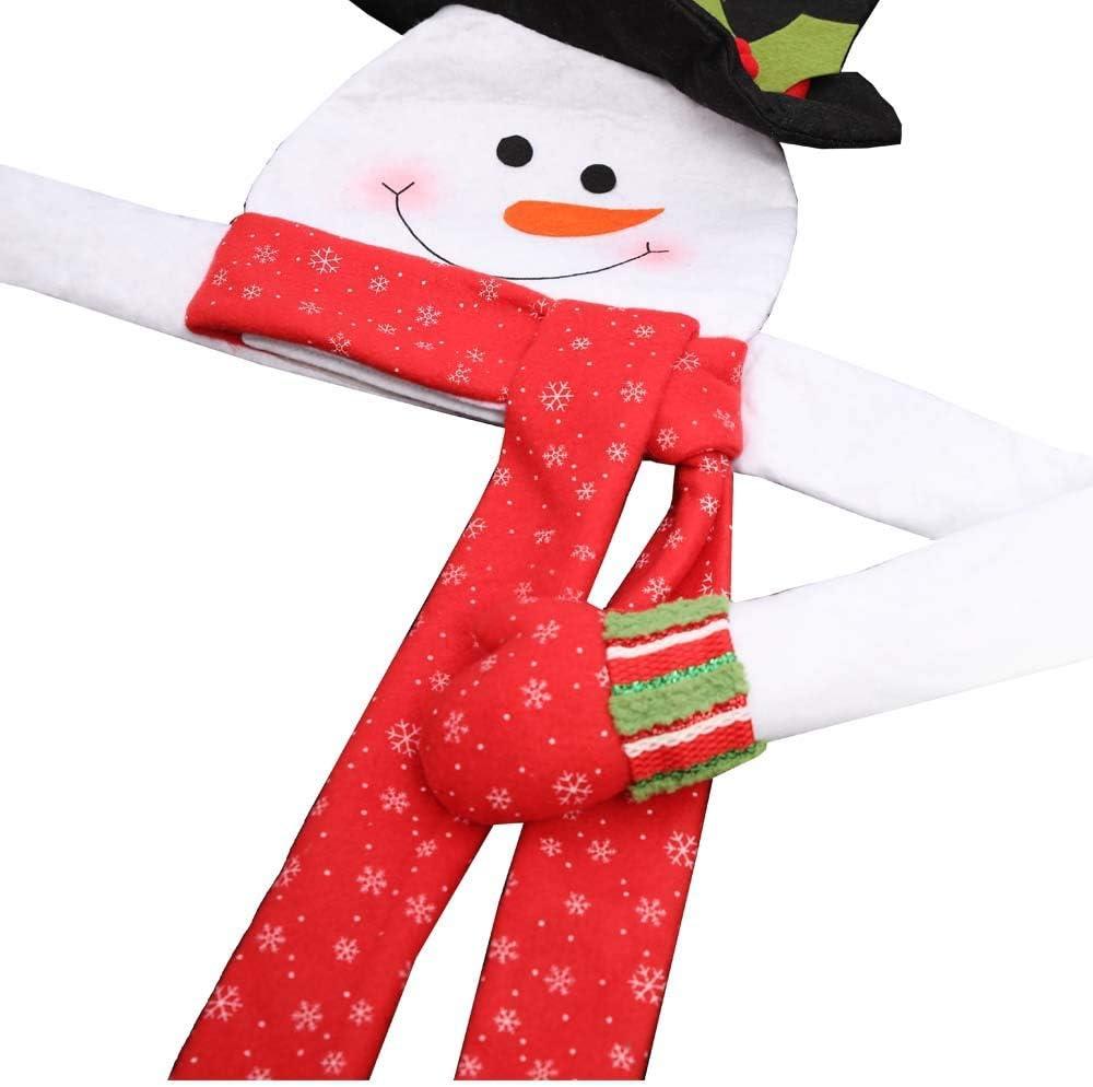 wonuu Christmas Tree Topper Hugger Reindeer Xmas Christmas Tree Decorations Party Home Decor