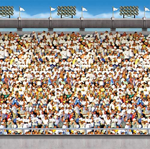 Beistle Upperdeck Stadium Backdrop Derby Day Theme Party Halooween Decoration -