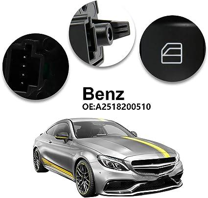 Lève vitre signal de détresse de secours interrupteur avant moyens Console Pour Mercedes