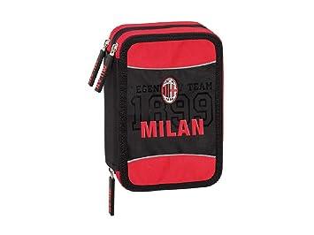 Estuche escolar AC Milan triple 3 cremalleras completo ...