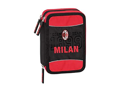 Estuche escolar AC Milan triple 3 cremalleras completo producto ...
