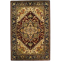 Safavieh Classic Collection CL225A Handmade Traditional Oriental Multicolored and Red Wool Area Rug (5 x 8)