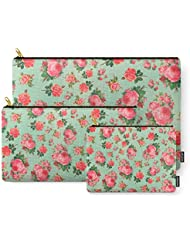 Society6 FLORAL PATTERN Carry-All Pouch