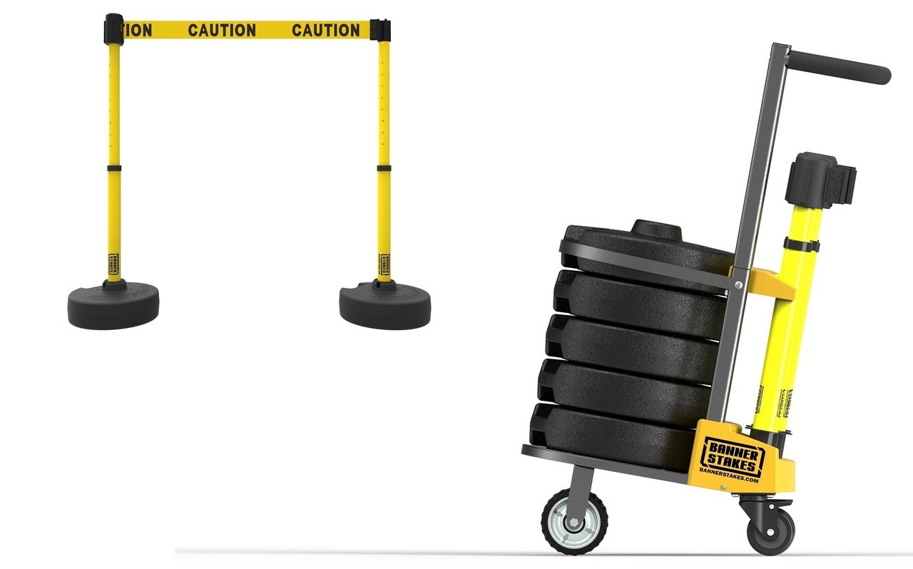 PLUS Cart Package, Yellow ''Caution'' Banner PL4001