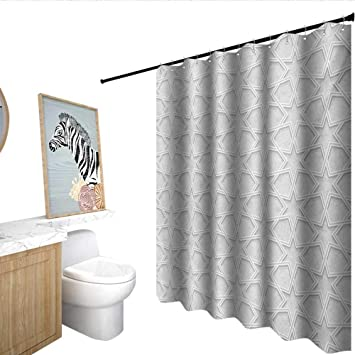 Homecoco Quatrefoil Shower Curtain With Hooks Fantastic Persian Style Ethnic Design Stars And Shap Edges
