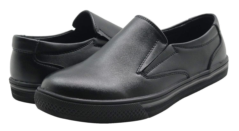 Apakowa Mocasines de Velcro para Ni/ños Partido Zapatos de Vestir de Boda