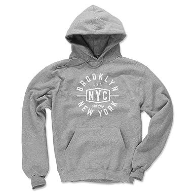 594db6e0b 500 LEVEL Brooklyn Men's Hoodie - Small Gray - Brooklyn New York Emblem WHT
