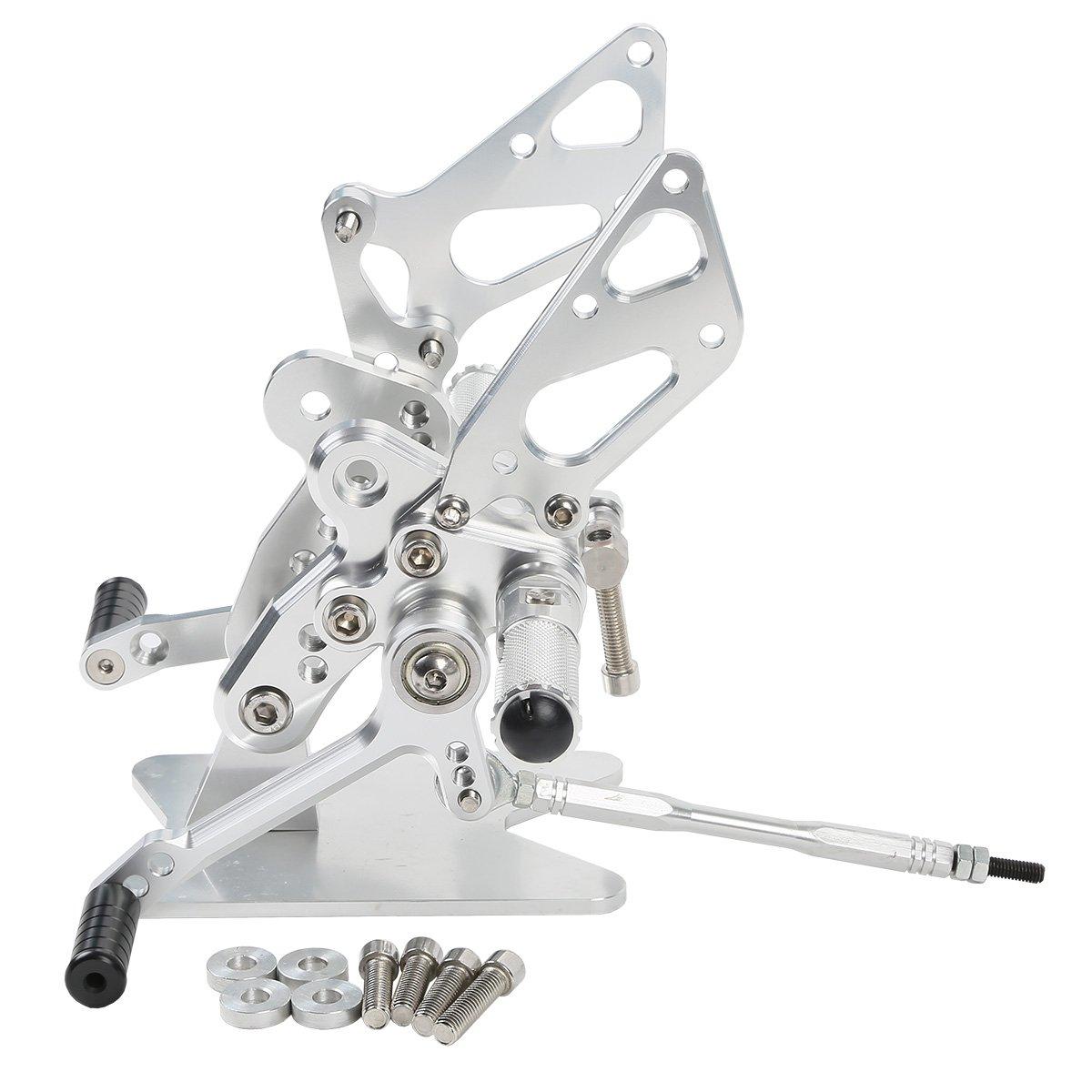 TengChang motocicleta Plata CNC Ajustable trasera estribera Reposapi/és Para Suzuki Hayabusa GSXR1300 GSX1300R GSXR 1300 1999 2000 2001 2002 2003 2004 2005 2006 2007 2008 2009 2010 2011 2012 2013 2014