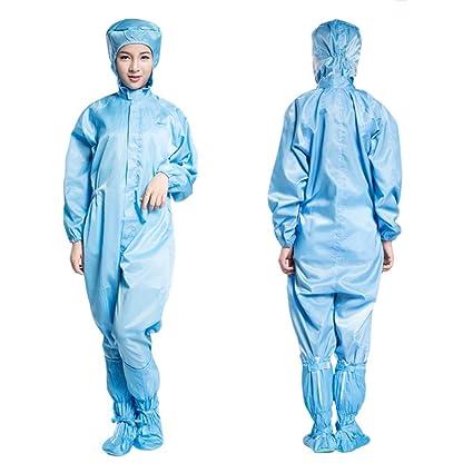 YAMEIJIA Traje De Batas Desechables Microporoso YIFU 2Pack, con Protección De La Cabeza De La