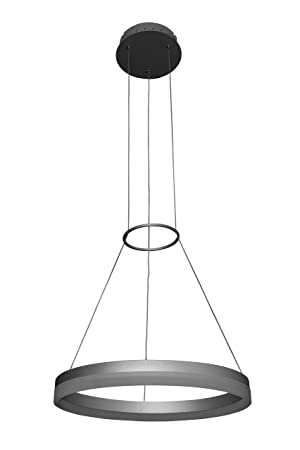 VONN VMC31630AL Tania 18 , AdjustableSuspension Fixture, Modern Circular Chandelier Lighting in Silver Integrated LED 17.75 L x 17.75 W x 120 11.81 H