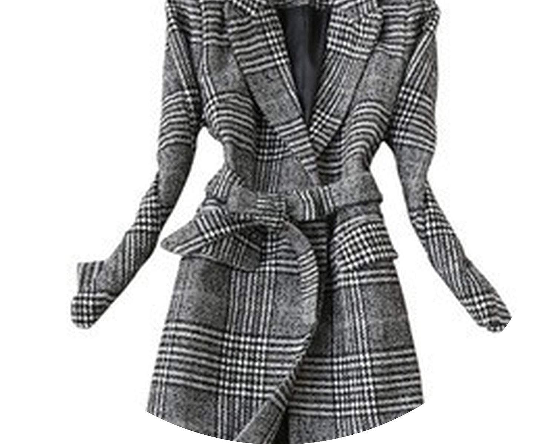 Coat Winter Women's Slim Long Woolen Coat Two Pieces Skirt Suit Wool Blend Jacket