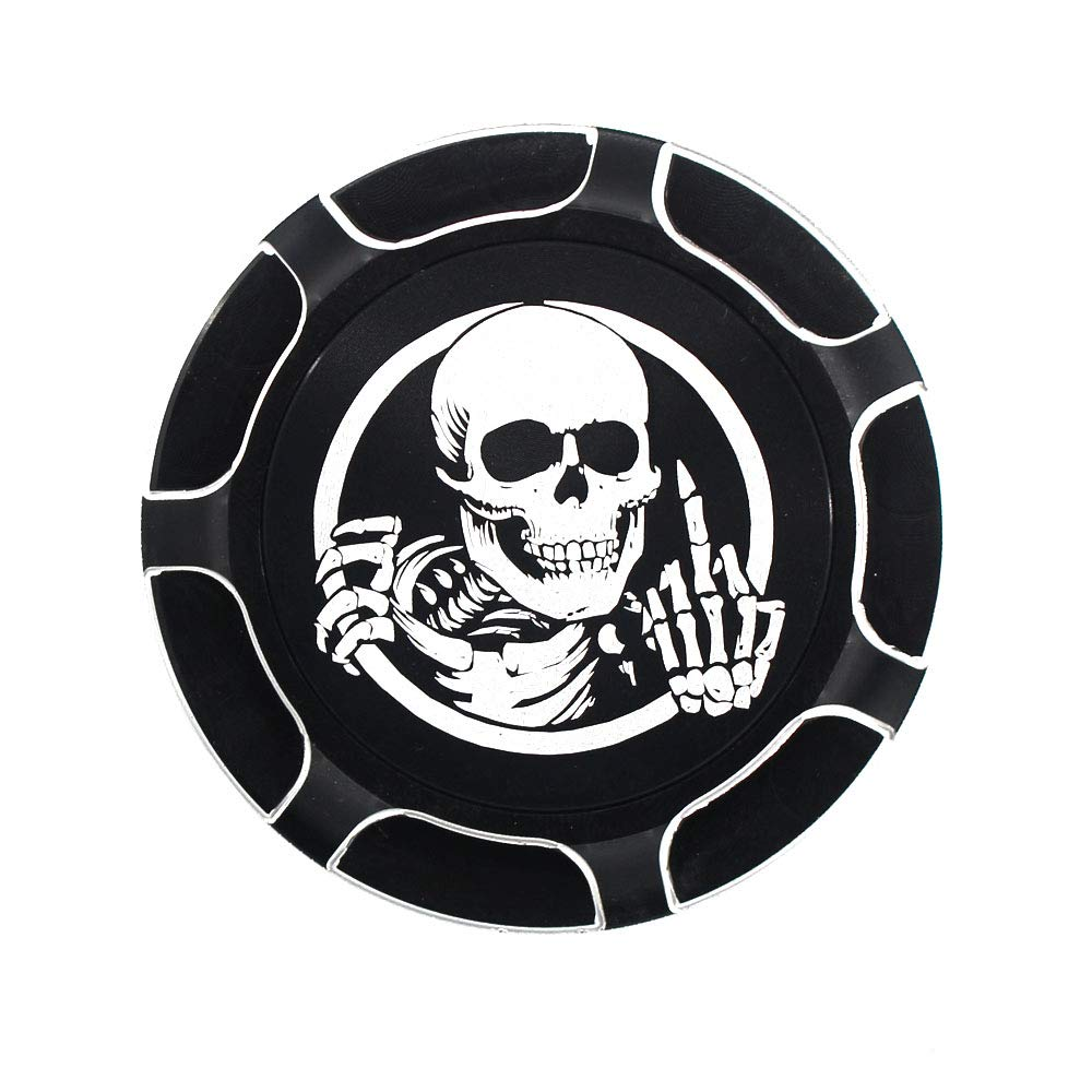 Skeleton Middle Finger CNC Aluminum Fuel Gas Tank Oil Cap For Harley Davidson Sportster XL 1200 883 X48 Dyna Chrome