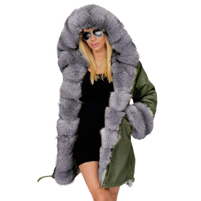 AA0942 Green 2018 Winter et Women Cotton Wadded Fur Hooded Coat Casual Winter Coats Jaqueta Feminina