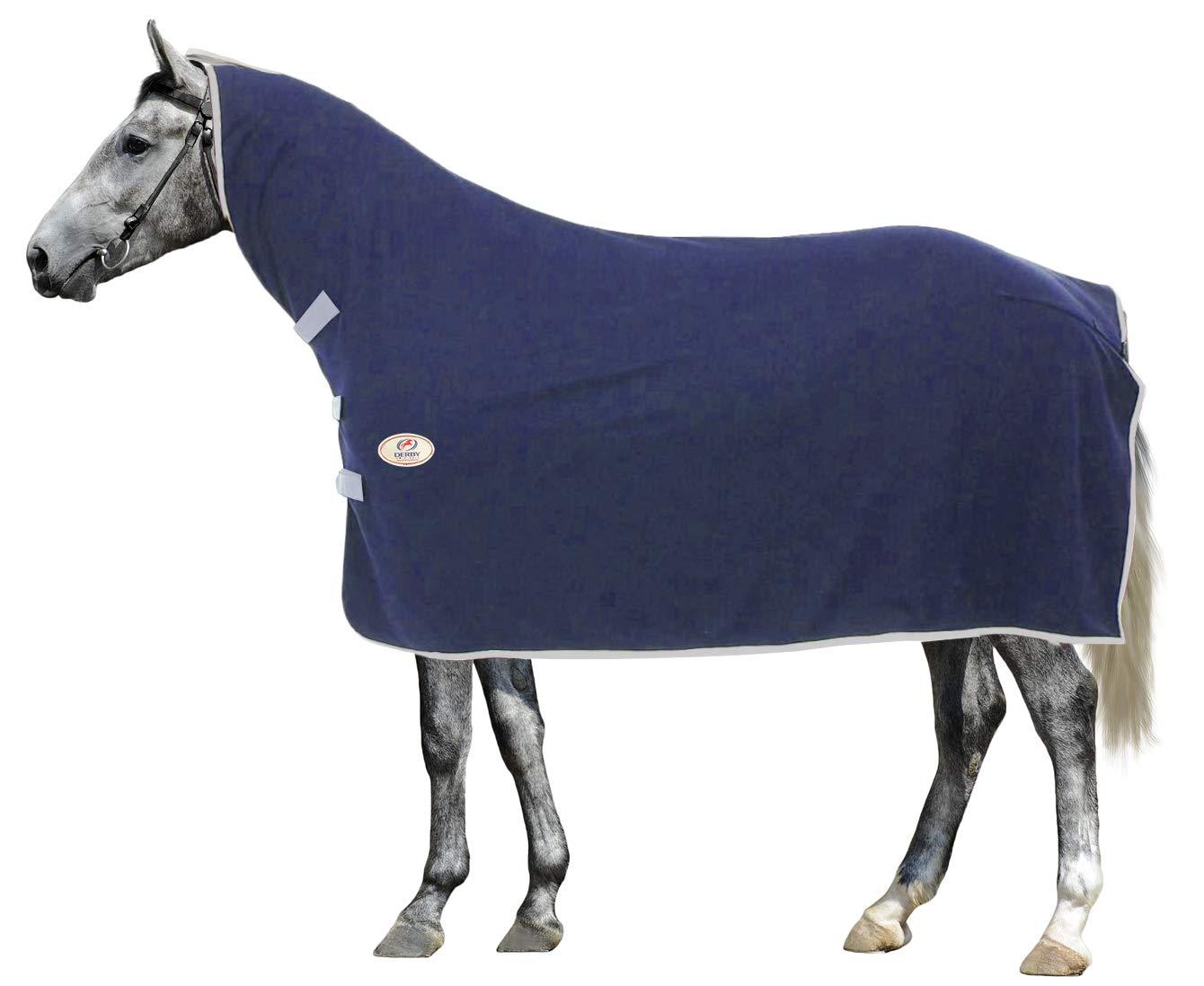 Navy Medium Navy Medium Derby Originals Horse Fleece Cooler with Neck Cover