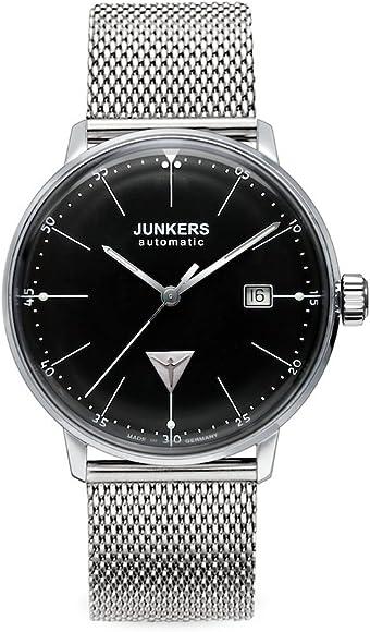 Junkers Herren-Armbanduhr XL Bauhaus Analog Automatik Edelstahl 6050M2