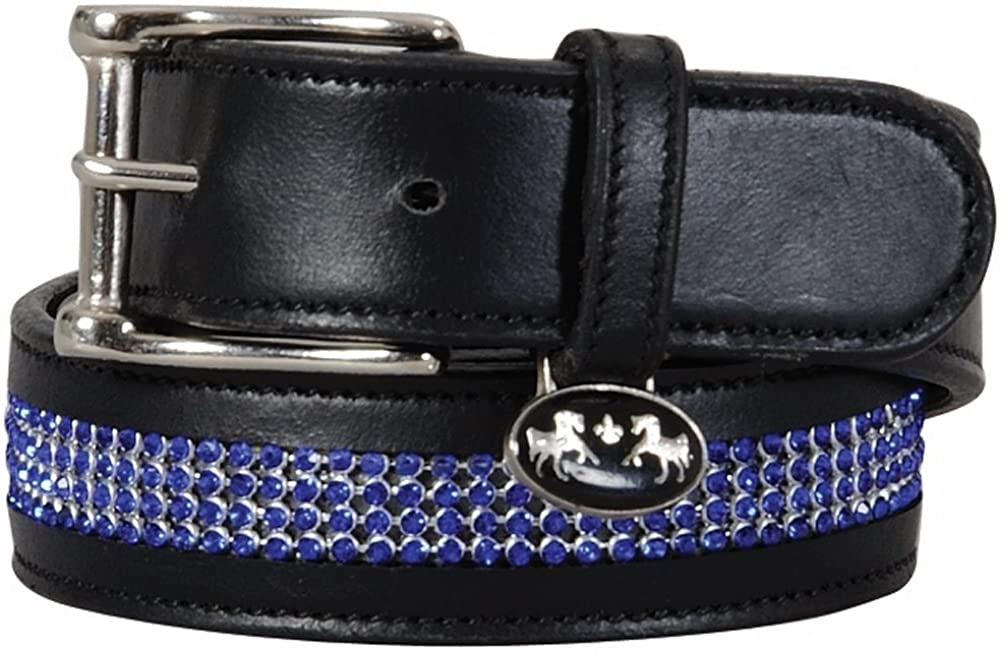 Equine Couture Bling Leather Belt Regular Leather