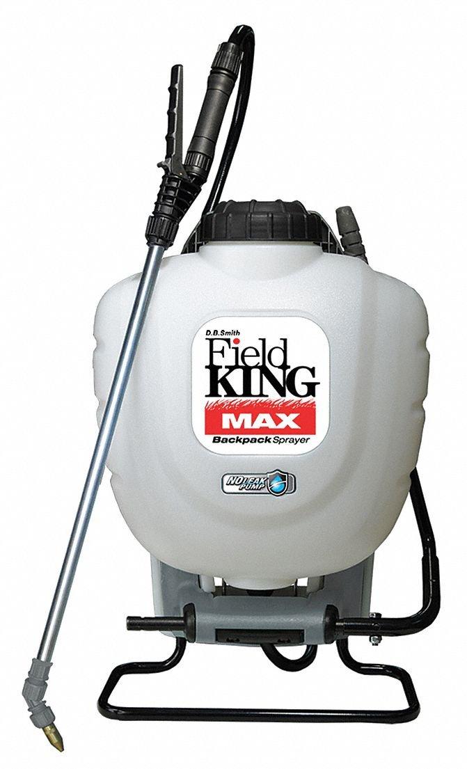 Backpack Sprayer, Polyethylene Tank Material, 4 gal, 150 psi Max Sprayer Pressure by FIELD KING MAX
